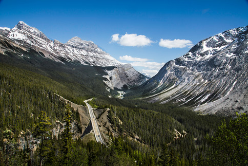 Driving through the rockies, Canada, 2016