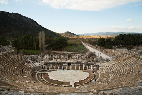 Stadium in ruins, Ephesus, Turkey, 2017
