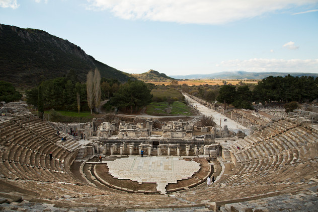 Stadium in ruins, Ephesus, Turkey, 2017