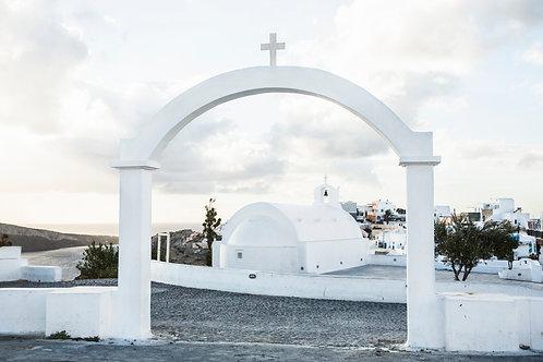 White scape, Santorini