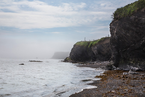 Cliffs facing the sea, Cap-des-rosiers, Gaspésie, Canada, 2017
