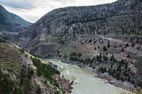 naturally desaturated landscape, Lillooet, BC, Canada, 2016
