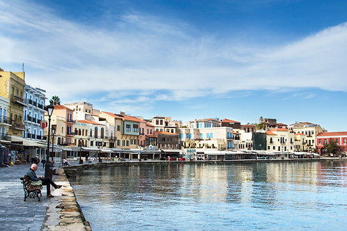 Colorful old port, Chania
