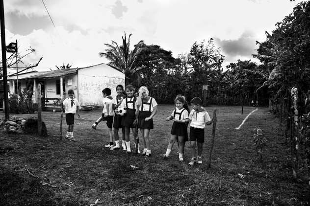 Passing by a school, Banes, Cuba, 2015