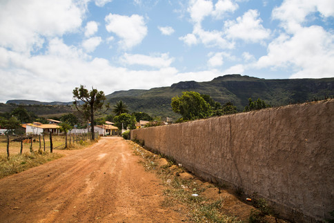 A wall through the scape, Vale do Capao, Brazil, 2014