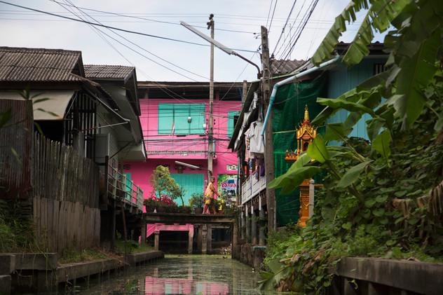 Colorful details near the floating market, Damnoen Saduak, Thailand, 2015