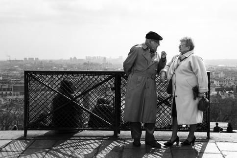 Third age romance, Paris, France, 2014