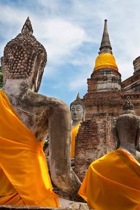 Buddhas, Ayutthaya, Thailand, 2015