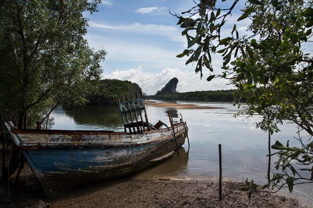 Boat in Krabi, Thailand, 2015