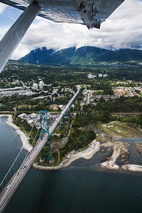 Flight over Vancouver