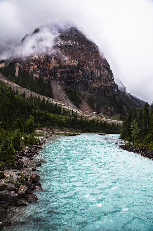 Icefield river, Yoho national park