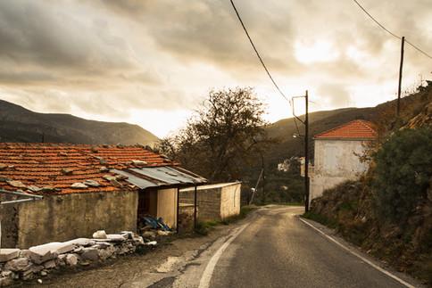 On the road, Crete, Greece, 2017