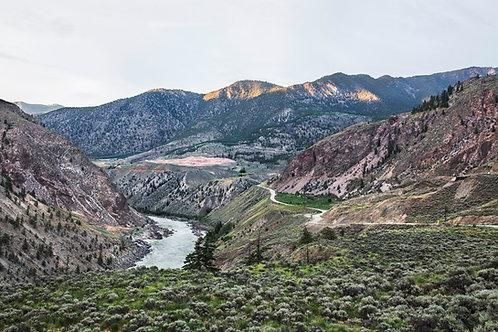 Diptyque, natural desaturated landscape