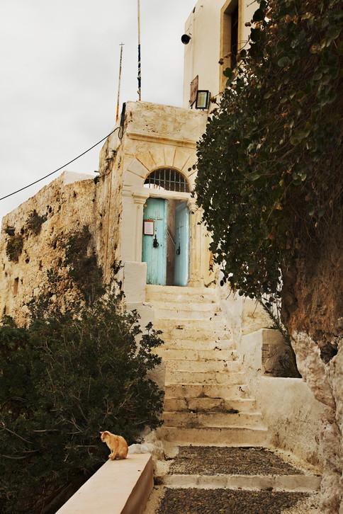 Through the blue door, Chrysoskalitissa Monastery, Crete, 2017