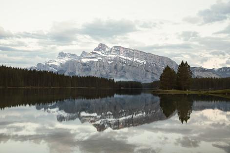Two Jack lake at dusk, Banff, Canada, 2016