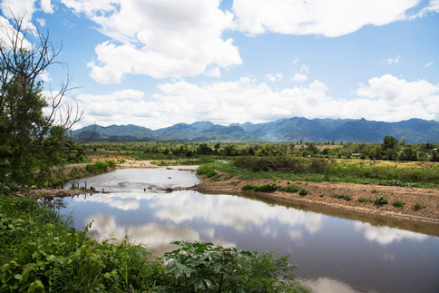 River lost in Pai, Thailand, 2015