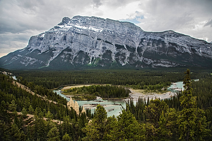 View on the hoodoos, Banff, Canada