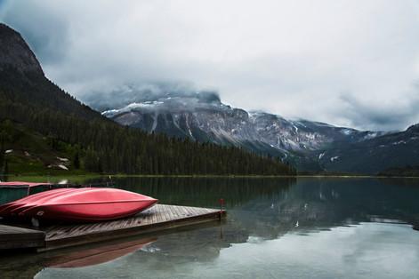 Foggy day, Emerald lake, Bc, Canada, 2016