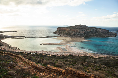 Stairway to Balos beach, Crete, Greece, 2017