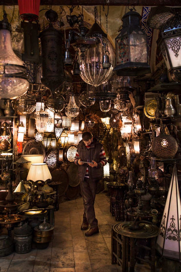 Lamp shop, Grand Bazar, Istanbul, Turkey, 2017
