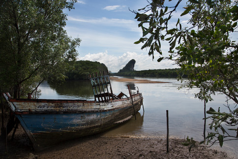 Boat by the shore, Krabi, Thailand 2015