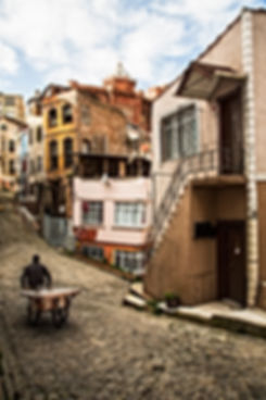 Facing the unknown, Balat, Istanbul, Tur