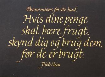Piet Heins kloke ord om penger