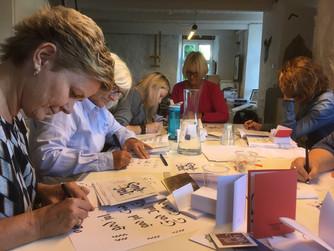 Kurs i kalligrafi høsten 2107