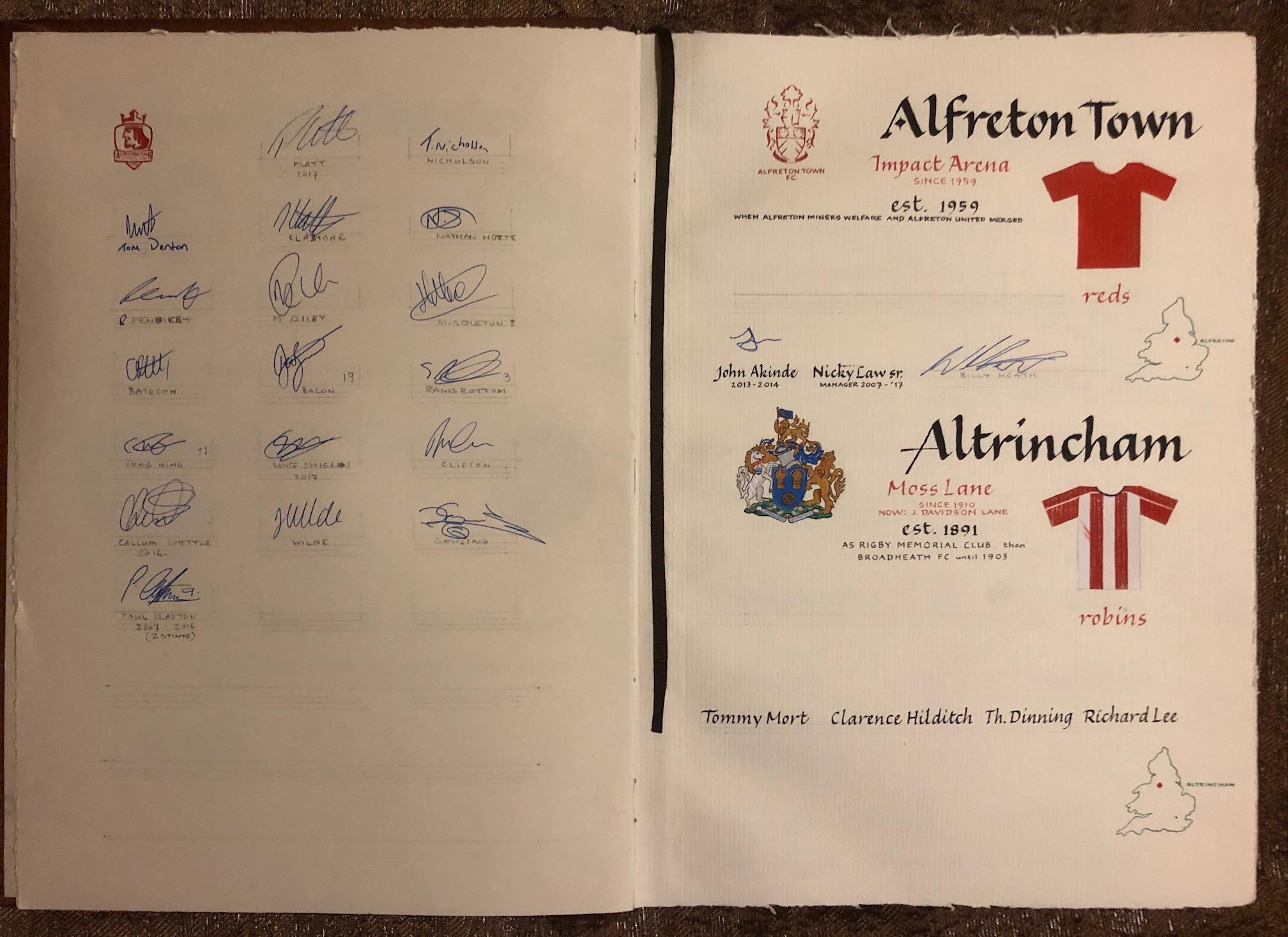 Alfreton with signatures