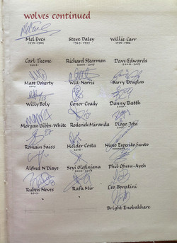 Wolves signatures