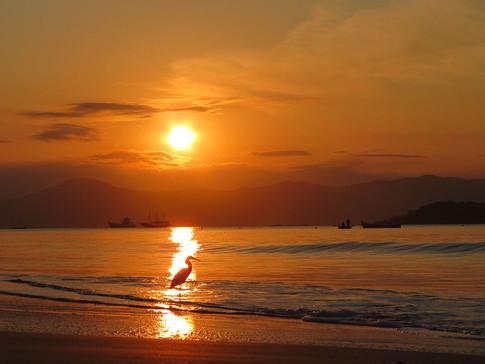 Pôr-do-sol na Cachoeira do Bom Jesus