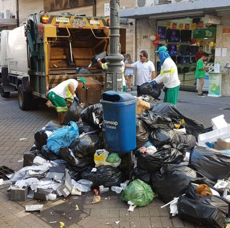 Falta de combustível já afeta a coleta de lixo em Florianópolis