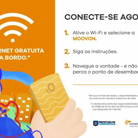 Começam os testes com internet sem-fio no transporte coletivo de Florianópolis