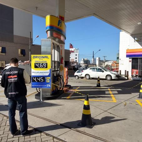 Procon de São José está monitorando os preços dos combustíveis no município