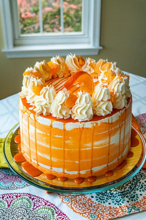 Orange Creamsicle Tall Cake