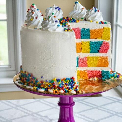 Vanilla Checkerboard Tall Cake