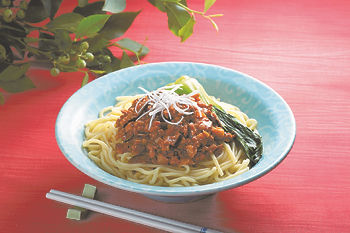 Shiitake 'Zha Jiang Mian' Fired Chinese Noodles with Pork and Sweet Bean Sauce recipe