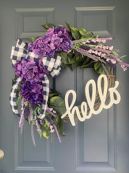 Purple Hydrangea and Lavender