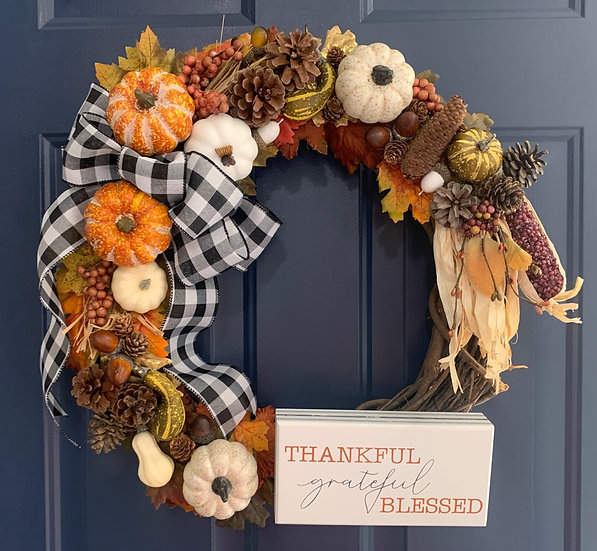 Thankful Harvest Fall Wreath