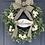 Thumbnail: Black and White Boxwood Wreath