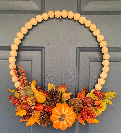 Beaded Fall Harvest Wreath