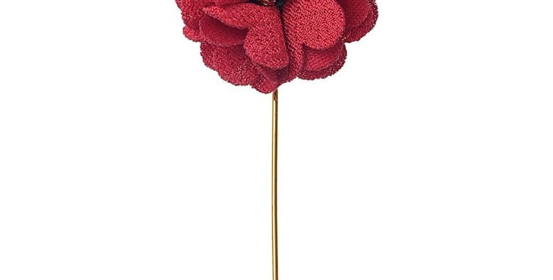 Red Flower And Stud