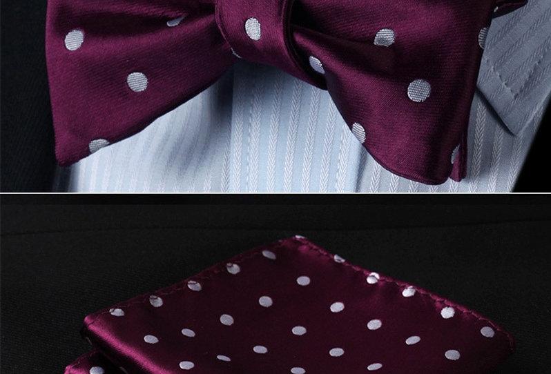Mens Woven Purple /Grey Polka Dot