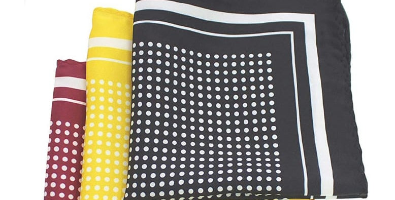 Yellow And White Polka 24 Inch