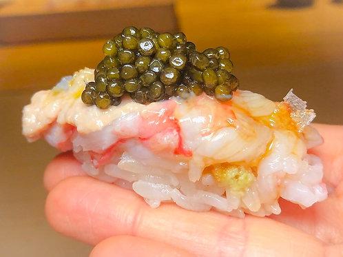 Caviar on nigiri 10 PC ( sturgeon caviar)