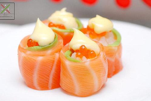3pc Salmon roses