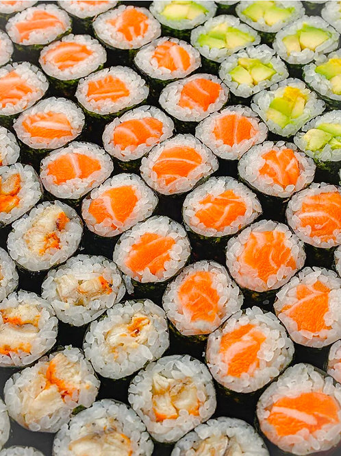 Maki 6pc salmon/Tuna/Prawn/ veg