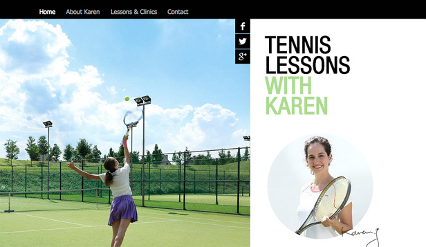 Sport en recreatie website templates – Tennislessen
