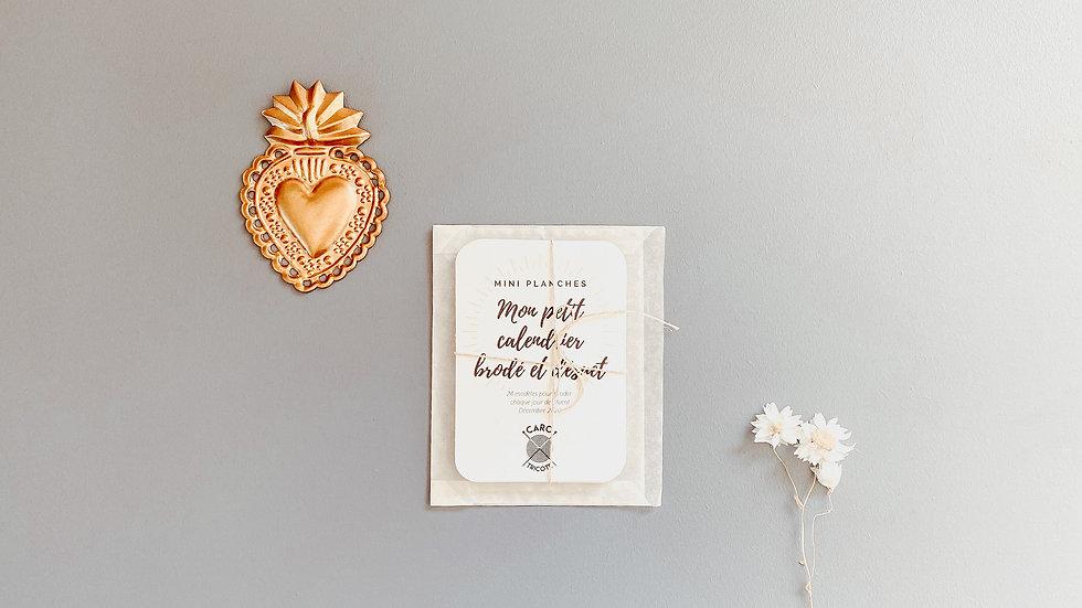 """Lot de mini planches """"Mon petit calendrier brodé et désuet"""""""