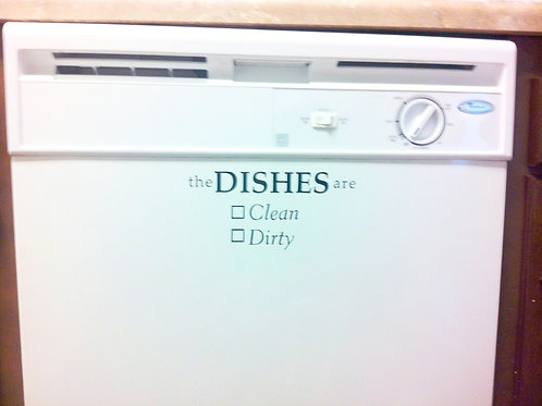 "Vinyl Sticker ""DISHES ARE:"""